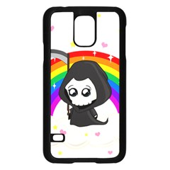 Cute Grim Reaper Samsung Galaxy S5 Case (black) by Valentinaart