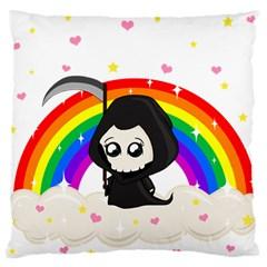 Cute Grim Reaper Standard Flano Cushion Case (one Side) by Valentinaart