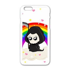 Cute Grim Reaper Apple Iphone 6/6s White Enamel Case by Valentinaart