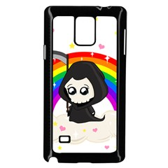 Cute Grim Reaper Samsung Galaxy Note 4 Case (black) by Valentinaart