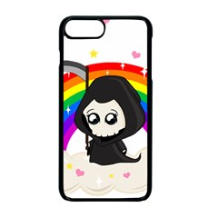 Cute Grim Reaper Apple Iphone 7 Plus Seamless Case (black) by Valentinaart