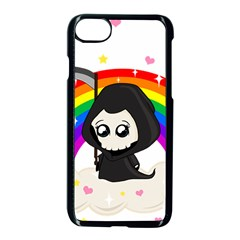 Cute Grim Reaper Apple Iphone 7 Seamless Case (black) by Valentinaart
