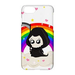 Cute Grim Reaper Apple Iphone 8 Hardshell Case by Valentinaart