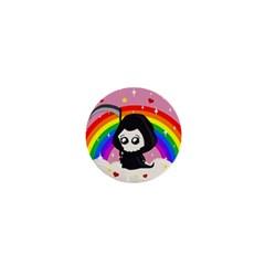 Cute Grim Reaper 1  Mini Buttons by Valentinaart