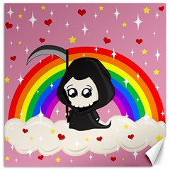 Cute Grim Reaper Canvas 16  X 16   by Valentinaart