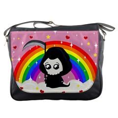 Cute Grim Reaper Messenger Bags by Valentinaart