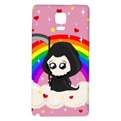 Cute Grim Reaper Galaxy Note 4 Back Case by Valentinaart