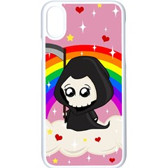 Cute Grim Reaper Apple Iphone X Seamless Case (white) by Valentinaart