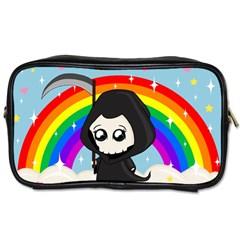 Cute Grim Reaper Toiletries Bags 2 Side by Valentinaart