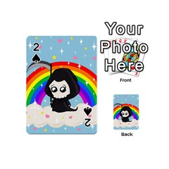 Cute Grim Reaper Playing Cards 54 (mini)  by Valentinaart