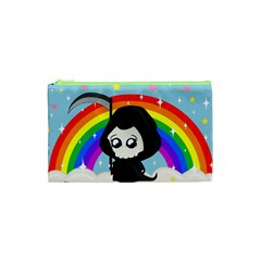Cute Grim Reaper Cosmetic Bag (xs) by Valentinaart