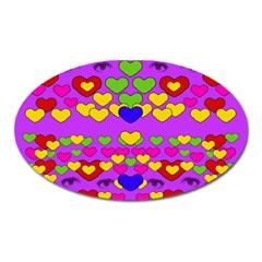 I Love This Lovely Hearty One Oval Magnet by pepitasart