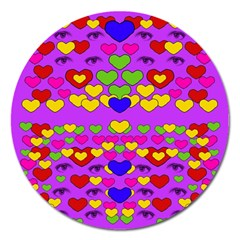 I Love This Lovely Hearty One Magnet 5  (round) by pepitasart