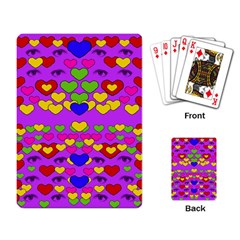 I Love This Lovely Hearty One Playing Card by pepitasart