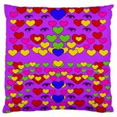 I Love This Lovely Hearty One Standard Flano Cushion Case (one Side) by pepitasart