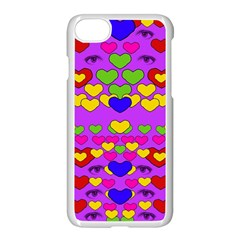 I Love This Lovely Hearty One Apple Iphone 7 Seamless Case (white) by pepitasart