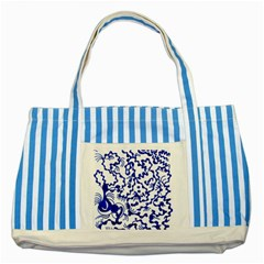 Direct Travel Striped Blue Tote Bag