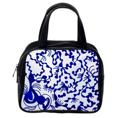Dna Square  Stairway Classic Handbags (one Side)