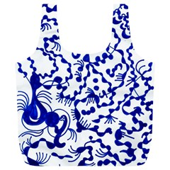 Dna Square  Stairway Full Print Recycle Bags (l)
