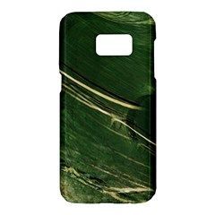 Deep Green Abstract Textured Fractal, Inspired By A Butterfly s Wing Samsung Galaxy S7 Hardshell Case