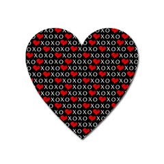 Xoxo Valentines Day Pattern Heart Magnet by Valentinaart