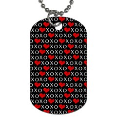 Xoxo Valentines Day Pattern Dog Tag (one Side) by Valentinaart