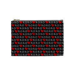 Xoxo Valentines Day Pattern Cosmetic Bag (medium)  by Valentinaart