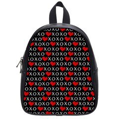 Xoxo Valentines Day Pattern School Bag (small) by Valentinaart
