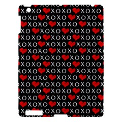 Xoxo Valentines Day Pattern Apple Ipad 3/4 Hardshell Case by Valentinaart