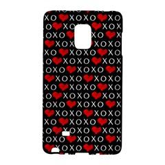 Xoxo Valentines Day Pattern Galaxy Note Edge by Valentinaart