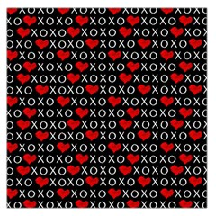 Xoxo Valentines Day Pattern Large Satin Scarf (square) by Valentinaart