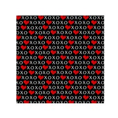 Xoxo Valentines Day Pattern Small Satin Scarf (square) by Valentinaart