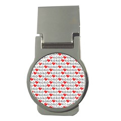 Xoxo Valentines Day Pattern Money Clips (round)  by Valentinaart