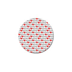Xoxo Valentines Day Pattern Golf Ball Marker (10 Pack) by Valentinaart