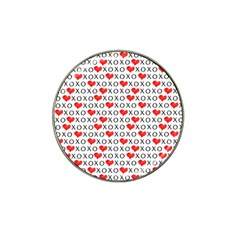 Xoxo Valentines Day Pattern Hat Clip Ball Marker (4 Pack) by Valentinaart