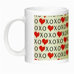 Xoxo Valentines Day Pattern Night Luminous Mugs by Valentinaart
