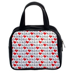 Xoxo Valentines Day Pattern Classic Handbags (2 Sides) by Valentinaart