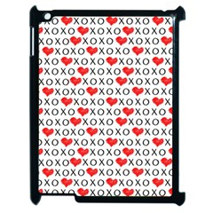 Xoxo Valentines Day Pattern Apple Ipad 2 Case (black) by Valentinaart