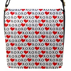 Xoxo Valentines Day Pattern Flap Messenger Bag (s) by Valentinaart