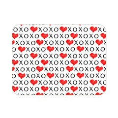 Xoxo Valentines Day Pattern Double Sided Flano Blanket (mini)  by Valentinaart