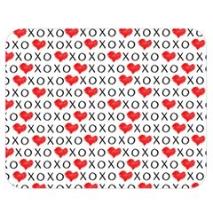 Xoxo Valentines Day Pattern Double Sided Flano Blanket (medium)  by Valentinaart