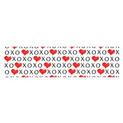 Xoxo Valentines Day Pattern Satin Scarf (oblong) by Valentinaart