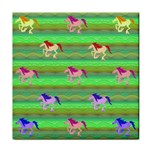 Rainbow Ponies Tile Coasters