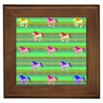 Rainbow Ponies Framed Tiles