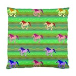 Rainbow Ponies Standard Cushion Case (One Side)