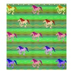 Rainbow Ponies Shower Curtain 66  x 72  (Large)