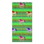 Rainbow Ponies Shower Curtain 36  x 72  (Stall)