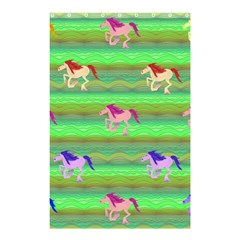 Rainbow Ponies Shower Curtain 48  X 72  (small)  by CosmicEsoteric