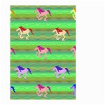 Rainbow Ponies Small Garden Flag (Two Sides)