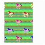 Rainbow Ponies Large Garden Flag (Two Sides)